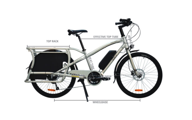 Yuba Electric Boda Boda Frame Geometry Diamond Frame