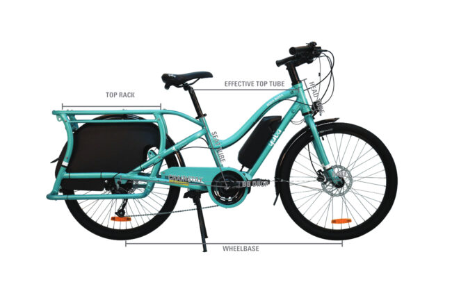 Yuba Electric Boda Boda Frame Geometry Step Through Frame