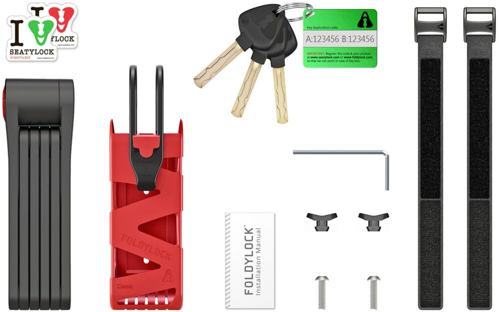 Foldylock Classic Includes Red
