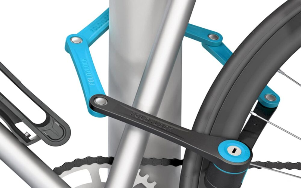 Foldylock Compact Locked On Bike Blue