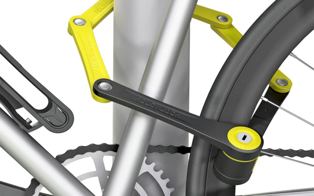 Foldylock Compact Locked On Bike Yellow